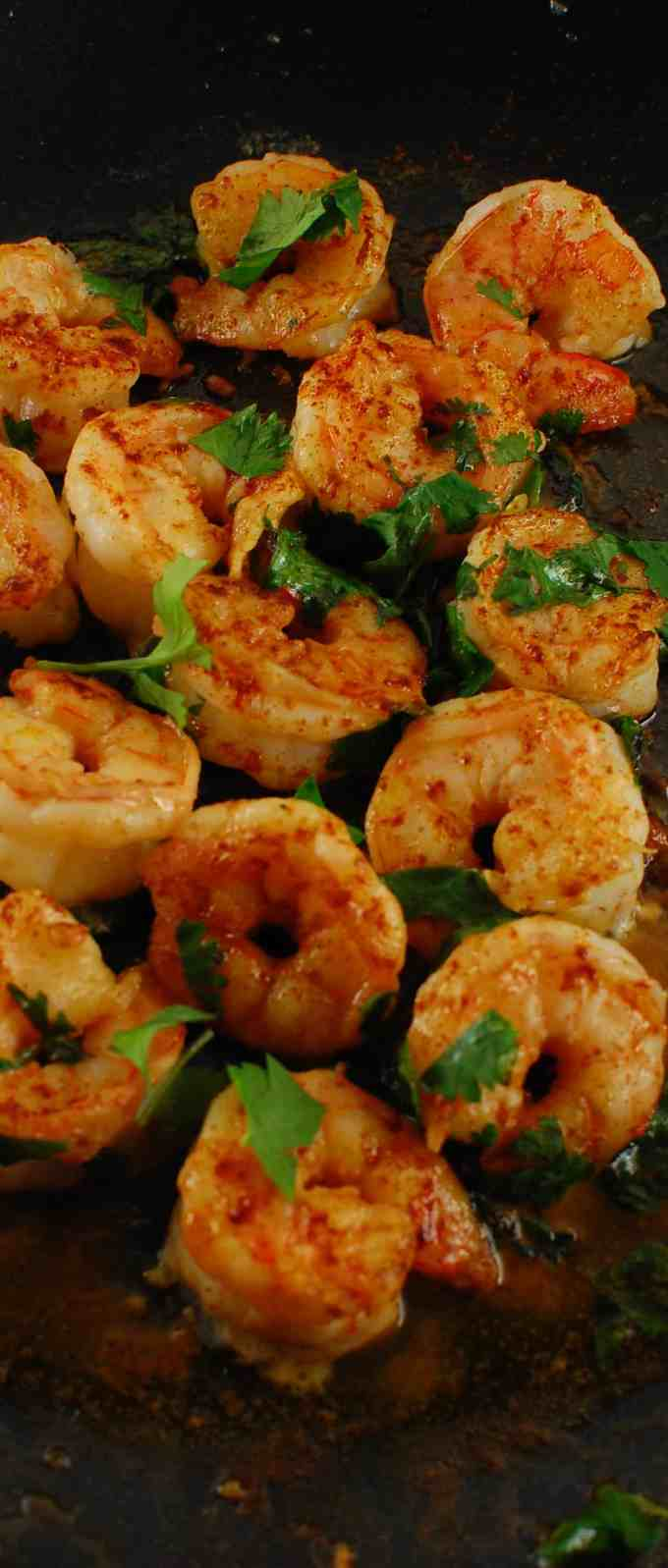 Cilantro Lime Shrimp with paprika. Super easy recipe and so tasty. You've got to try this! Mary Jo loves this! | joeshealthymeals.com