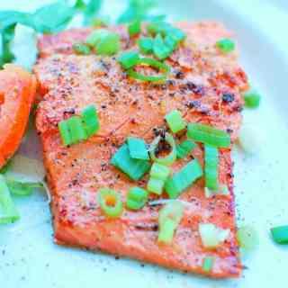 Honey Sesame Glazed Salmon