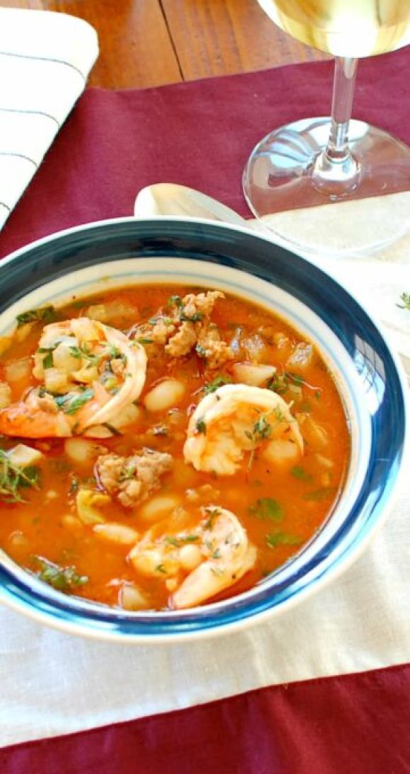 Shrimp and Sausage Stew. This recipe is awesome! You will want to make this often. | joeshealthymeals.com