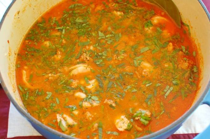 Shrimp and Sausage Soup - this stew is amazingly good. You've got to try this recipe! | joeshealthymeals.com