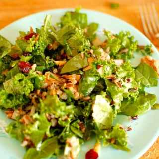 Kale and Wild Rice Salad with Pomegranate Dressing