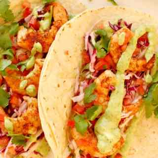 Awesome Spicy Grilled Shrimp Tacos