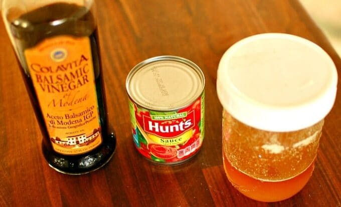 Three simple sauce ingredients. Heat these up with a pinch of salt! | joeshealthymeals.com