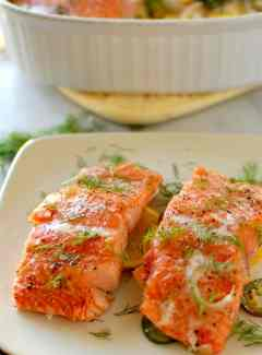 Slow baked dill and citrus salmon. The moistest and most yummy salmon you have ever had! | joeshealthymeals.com