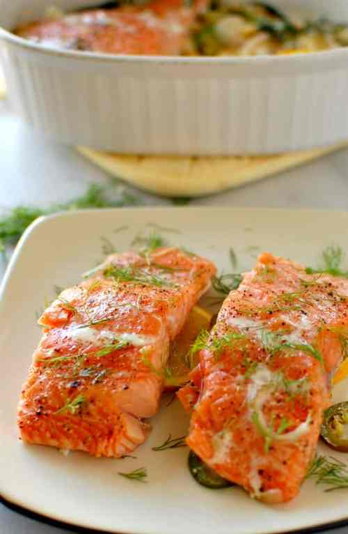 Slow baked dill and citrus salmon. The most moist and yummiest salmon you have ever had! | joeshealthymeals.com