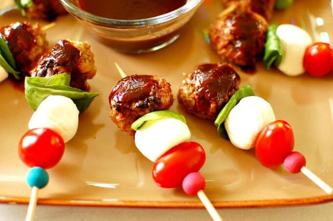 Italian chicken meatballs, Delicious with the honey balsamic sauce. You'll love this recipe for a quick appetizer. | joeshealthymeals.com
