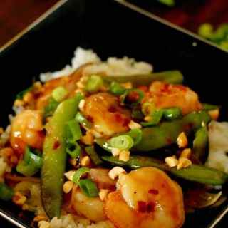 Extra Spicy Shrimp Stir Fry