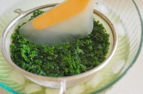 Blanched kale. | joeshealthymeals.com