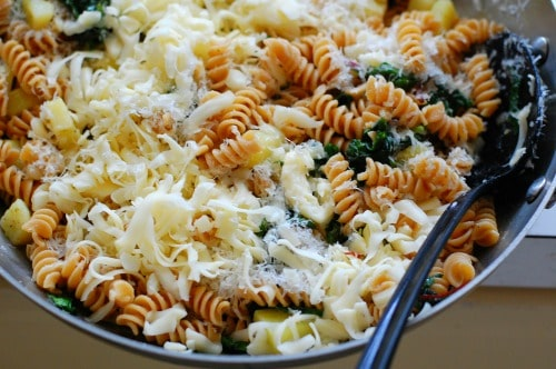Cheese and pasta.   joeshealthymeals.com