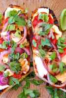 Grilled caprese salad sandwich.