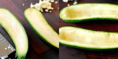 zucchini boats collage