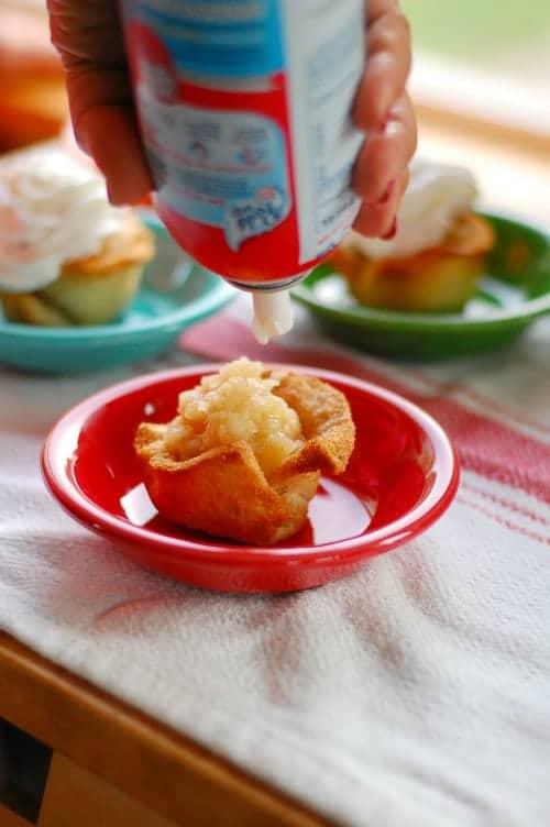 Applesauce pineapple reddi whip. Tasty, simple to make dessert that everyone will love. | joeshealthymeals.com