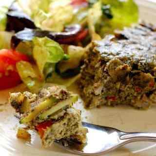 Healthy No Crust Vegetable Quiche