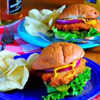 Breaded pork tenderloin sandwich.