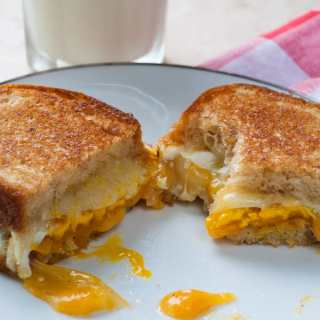 Cheese and Fried Egg Sandwich