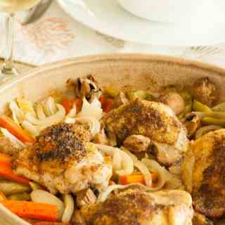 Baked Chicken Thighs with Vegetables
