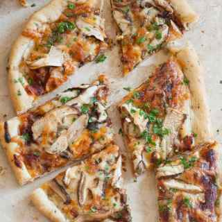 Herb Crust Pizza with Shiitake Mushrooms