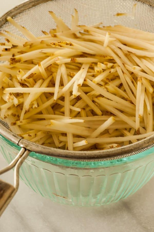 Shredded potatoes. | joeshealthymeals.com