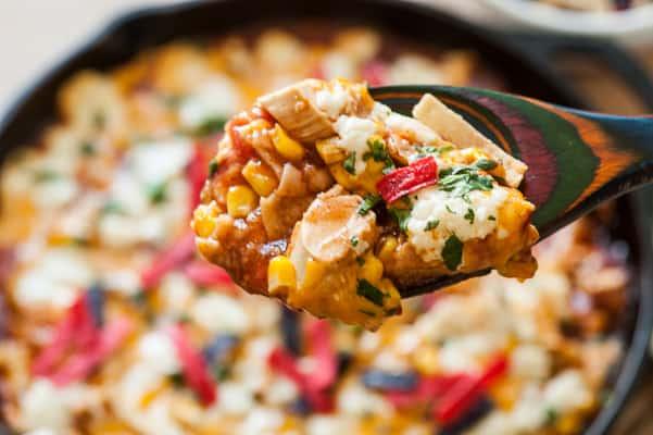 Chicken enchilada skillet.