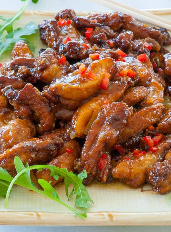 Chinese restaurant style orange chicken. Delicious take on a Chinese restaurant staple. | joeshealthymeals.com