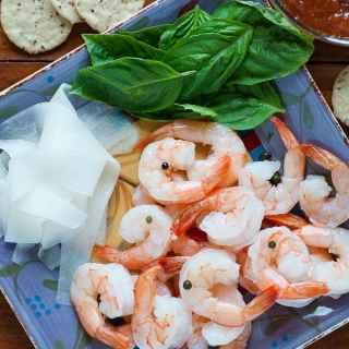 Shrimp Cocktail with Pickled Daikon Radish
