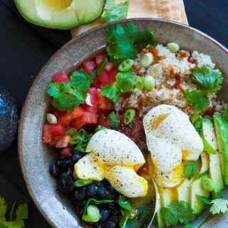 Tex-Mex Quinoa Brown Rice Grain Bowl