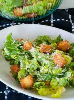 Traditional caesar dressing. Perfect dressing for romaine and croutons topped with grated parmesan. | joeshealthymeals.com