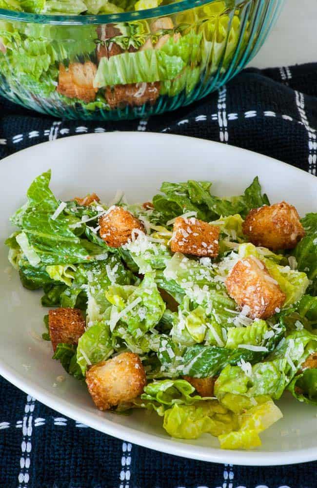 Homemade Caesar Salad Dressing. Sensational recipe for tasty traditional Caesar dressing. | joeshealthymeals.com