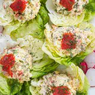 Smoked Salmon Egg Salad Lettuce Wrap