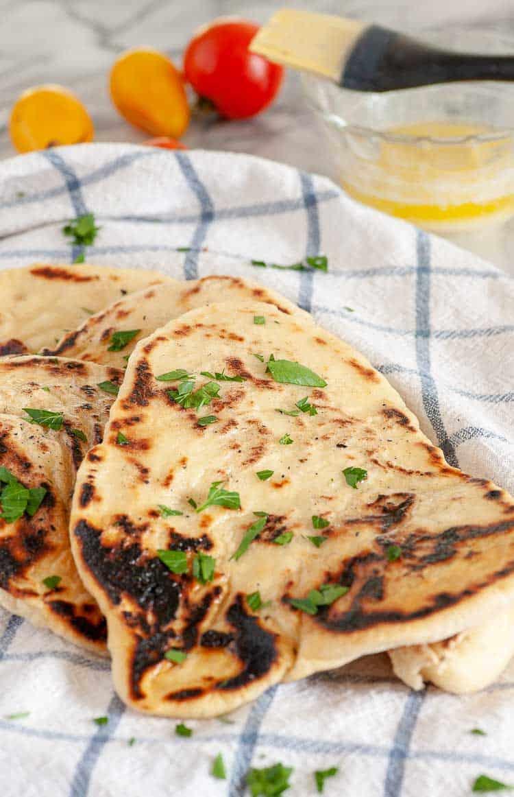Easy naan bread recipe. | joeshealthymeals.com