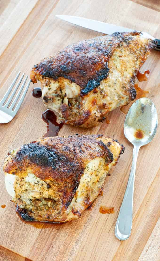 Yummy ranch baked chicken breasts.
