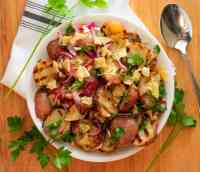 Grilled Potato Salad with Pickled Red Onion. #potatosalad #grilledpotato #healthysalad