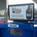 Growler Express fills up growlers at gas stations