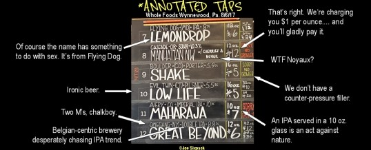 Annotated Taplist: Whole Foods Wynnewood*