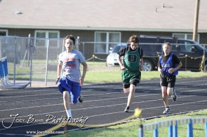 At the Ellinwood Middle School Invitational Track Meet