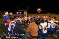 Otis-Bison Cougars pray after the Otis-Bison visiting Sylvan-Lucas Unified Eight Man Division II District 7 matchup with Otis-Bison winning 76-26 in Sylvan Grove, Kansas on October 25, 2012. (Photo: Joey Bahr, www.joeybahr.com)