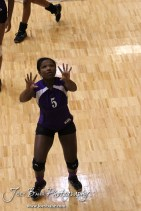 Wilson Lady Dragon Tanisha Steinike (#5) before the Wilson versus Weskan KSHSAA Class 1A Division II State Volleyball Pool II match with Weskan winning 26-24, 25-12 in Hays, Kansas on October 26, 2012. (Photo: Joey Bahr, www.joeybahr.com)