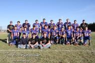 The 2012 Otis-Bison Cougar Football Team pose for a team picture following the Thunder Ridge at Otis-Bison KSHSAA Eight Man Division II Regional Game with Thunder Ridge winning 28-18 at Otis-Bison High School in Otis, Kansas on November 3, 2012. (Photo: Joey Bahr, www.joeybahr.com)