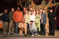 """The Cast and Crew assemble for a picture following the Great Bend Community Theater's final rehearsal of """"Duck Hunter Shoots Angel"""" by Mitch Albom at Crest Theater in Great Bend, Kansas on April 17, 2013. (Photo: Joey Bahr, www.joeybahr.com)"""