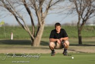 Great Bend Panther Tanner Neeland reads the green during the Great Bend High School Boys Golf Invitational Tournament at The Club at Stoneridge in Great Bend, Kansas on April 29, 2013. (Photo: Joey Bahr, www.joeybahr.com)
