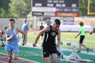 during the 2013 KSHSAA Class 1A Regional Track and Field competition at Lewis Field on the campus of Fort Hays State University in Hays, Kansas on May 17, 2013. (Photo: Joey Bahr, www.joeybahr.com)