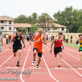 during the KSHSAA Class 1A Regional Track and Field Meet Lewis Field Stadium on the campus of Fort Hays State University in Hays, Kansas on May 23, 2014. (Photo: Joey Bahr, www.joeybahr.com)