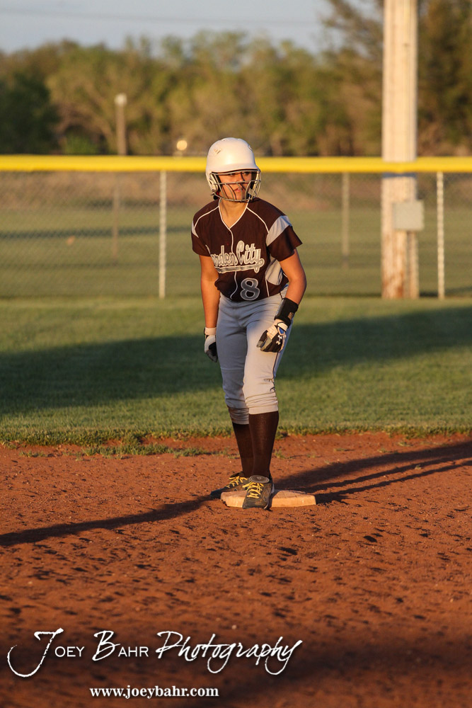During The Great Bend Lady Panthers Versus Garden City Lady Buffaloes  Softball Game With Great Bend
