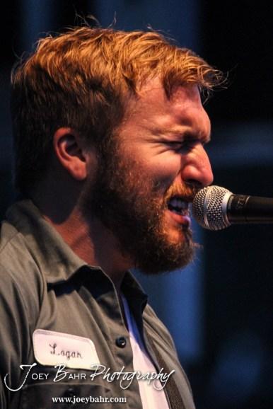 Logan Mize sings durning the Ellinwood After Harvest Festival at City Park in Ellinwood, Kansas on July 17, 2014. (Photo: Joey Bahr, www.joeybahr.com)