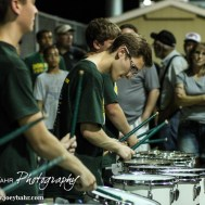 Members of the Salina South Drumline perform following the McPherson Bullpups versus Salina South Cougars High School Football gamme with Salina South winning 61 to 32 at Salina Stadium in Salina, Kansas on September 4, 2014. (Photo: Joey Bahr, www.joeybahr.com)