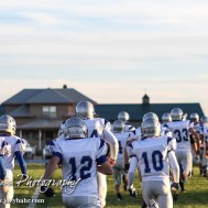 The Spearville Lancers run out onto the field prior to the Spearville versus Ness City High School 8-Man Football Game with Spearville winning 50 to 38 at Ness City High School in Ness City, Kansas on October 3, 2014. (Photo: Joey Bahr, www.joeybahr.com)