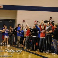 The Ellinwood Eagle Student Section cheers after the final buzzer during the 2A Sub-State First Round Game with the Ellinwood Eagles vs the Ell-Saline Cardinals with Ellinwood winning 59 to 37 at Ellinwood High School in Ellinwood, Kansas on March 2, 2015. (Photo: Joey Bahr, www.joeybahr.com)
