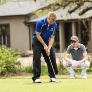 during the Ellinwood High School Boys Golf Invitational. at Grove Park Golf Course in Ellinwood, Kansas on April 23, 2015. (Photo: Joey Bahr, www.joeybahr.com)
