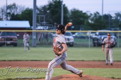 during the KSHSAA Class 4A Division II Baseball Regional Quaterfinal between the Larned Indians and the Russell/Victoria Broncos with Larned winning 6 to 4