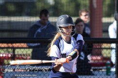 during the Great Bend Lady Panthers versus TMP-Marian Lady Monarchs softball game with Great Bend winning 7 to 1